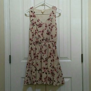 Pink Owl Sleeveless Floral Dress Size Small